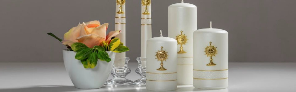 Kerzen mit religiösem Bezug